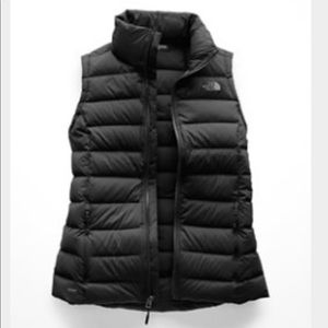 Black North Face Stretch Down Vest. Size XL
